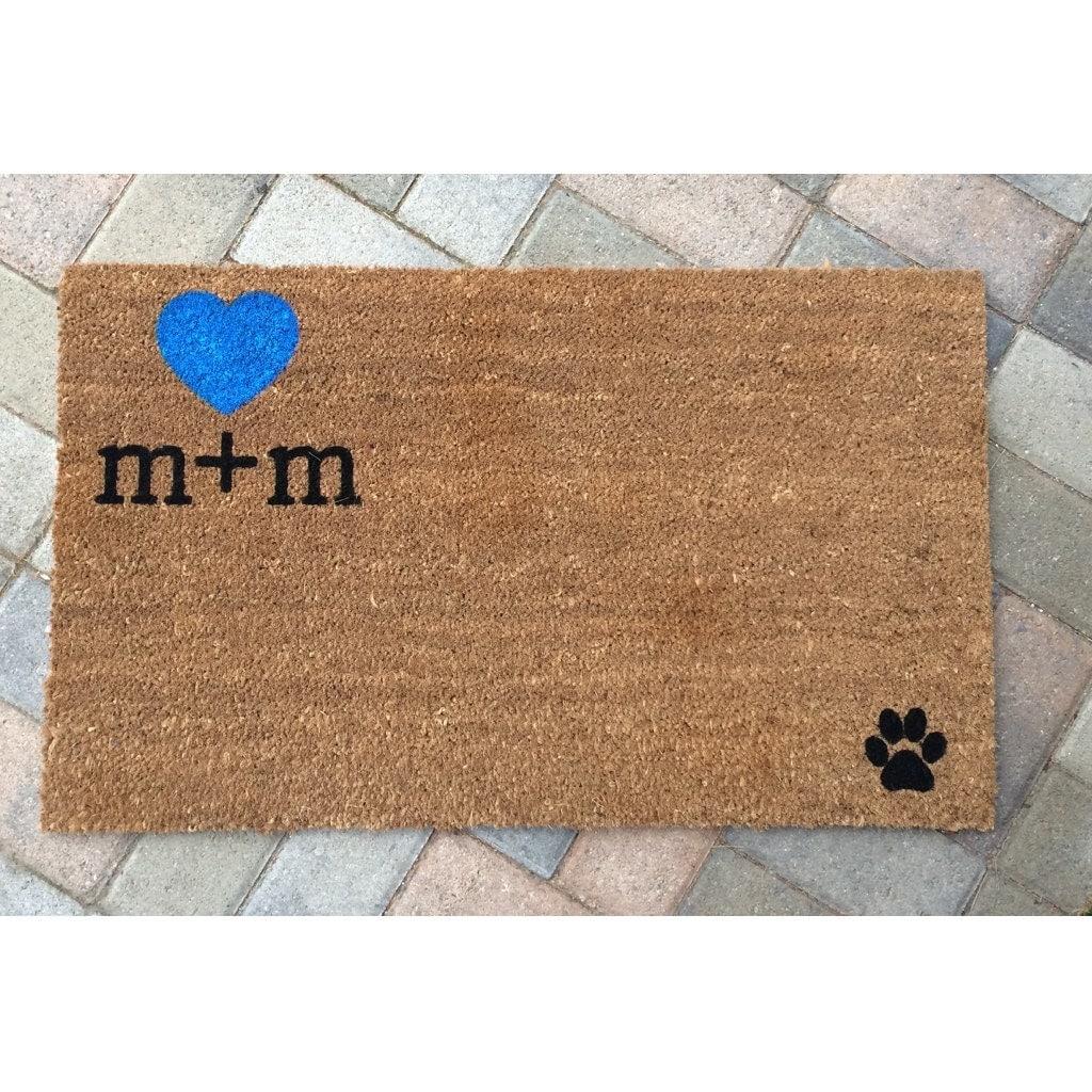 Custom Initials Welcome Mat / Personalized Doormat / Wedding
