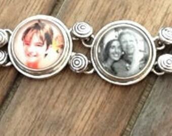 Custom Personalized Photo Bracelet, Ginger Snaps, Snap Charms, Photo Bracelet, Photo Jewelry, Valentine's day gift, Gift for her