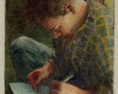 Writer Gush Portrait Mini...