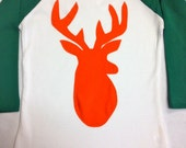 Boys Deer Applique-Boys Deer Baseball Tee- Boys Basebal...