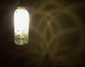 Chrysanthumum-ish Bottle Lantern