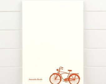 BICYCLE Personalized Notepad - Masculine Teacher Letterhead