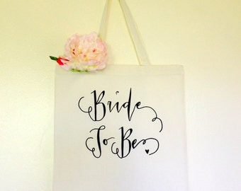 Bride To Be Bridal Shower Gift Tote Bag