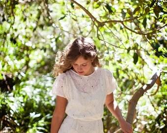 SALE - Lace Dress - 'Confetti' Sheer Lace Pencil Dress