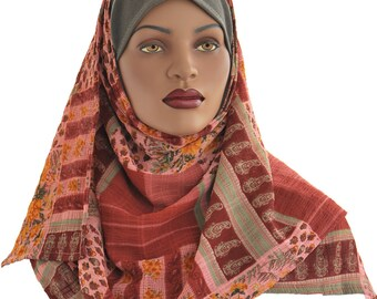 Ready to Wear Hijab Hooded Scarf Handmade