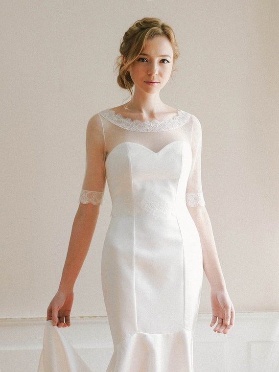 to wedding cover up boatneck lace top tulle top bridal cover up