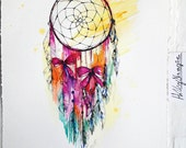 Dreamcatcher // ORIGINAL WATERCOLOUR illustration by Holly Sharpe
