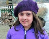 Knittting  Pattern- Digital  Hat Knitting PATTERN PDF -Seed Stitche Beret  Pattern   DIY - Children  hat  Fall Autumn Winter Fashion