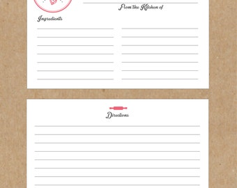 Let's Bake Recipe Cards - 10 pack