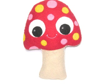 Mushroom Plush - Toadstool Nursery Decor - Woodland Decor - Mushroom Gift - Mushroom Plush - Kawaii Plush - Mushroom Softy - Weird Plush
