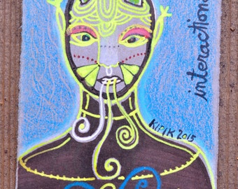 ACO - ATC - original art card - one of a kind - Interactions