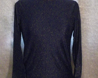 Glitter Navy Blue Slinky Top