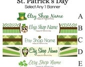 St. Patrick's Day Etsy Banners - Etsy Shop Banners Selections - 1