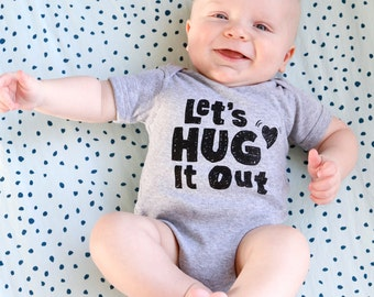 Baby Hug It Out Onesie, Ready to Ship
