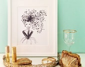 Watercolor Black and White Fashion Illustration - Fashion Sketch Wall Art