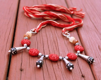 Tribal Jewelry, Boho Necklace, Gypsy Jewelry, Statement Necklace