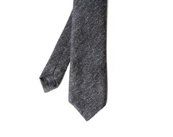 Franz - Charcoal Gray Wool Men's Tie