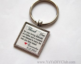Father of groom gift, father in law wedding gift for father in law, father of the groom keychain, custom  keychain, personalized keychain