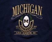 University of Michigan Wolverines Sweatshirt, College Apparel, Vintage 90s