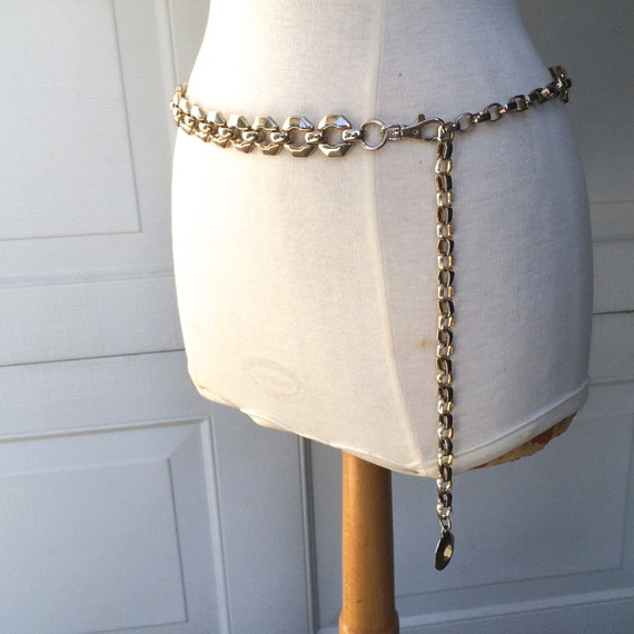 Heavy Mod Gold Chain Link Ladies Belt 70s 80s by JennyandPearl