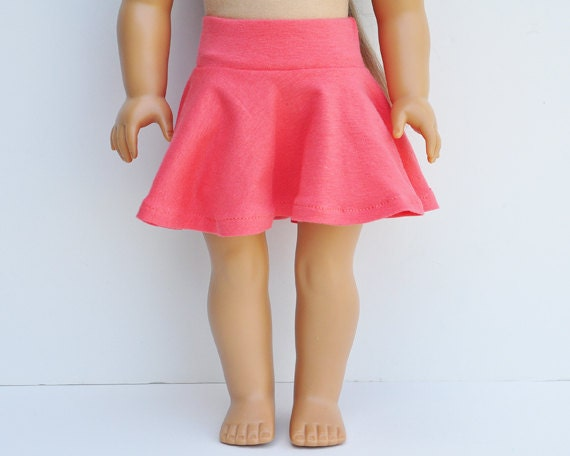 American Girl Clothes - Skater Skirt, Coral, Separates, Bottoms, Mini