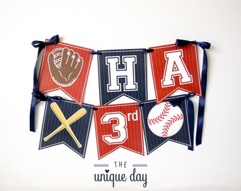 INSTANT DOWNLOAD Baseball Birthday Banner - Happy Birthday Banner - Printable - Baseball Party Decor - Baseball Birthday Party // BAS