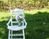A N T I Q U E, Chair Shabby Chic Round Seat Ornate Back Nordic Furniture