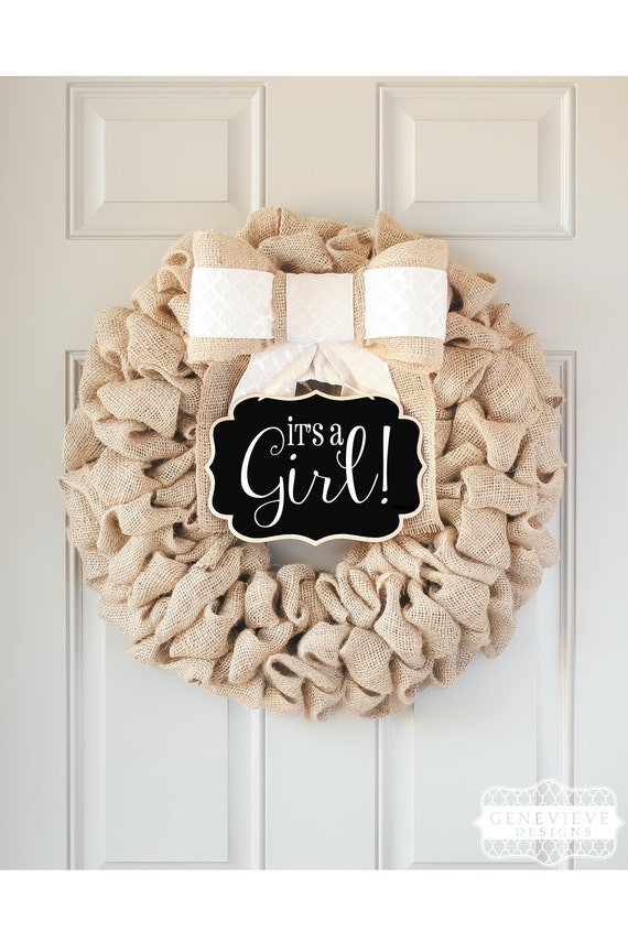 Items similar to its a girl baby shower decorations gift for Baby shower front door decoration ideas