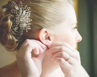 Crystal Bridal Hair Comb, Rhinestone Wedding Hair Comb, Swaorvski Hair Accessories, Vintage Style Hairpiece, Art Deco Bridal Hair, FANCY