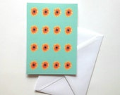 Sunflowers greeting card / notecard