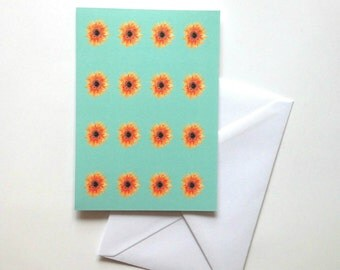 Sunflowers greeting card floral notecard