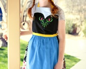 ANNA FROZEN princess Disney inspired costume APRON. Fits Teen/ Adult Women size 0-12. Mommy Dress up Birthday Party Gift Photo Prop Cooking