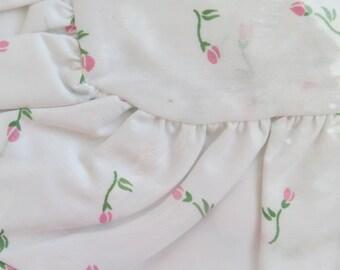 WHITESALE - Pink Rosebuds Standard Pillow Sham by Dan River - Jennifer II - New Unused - Shabby Chic Vintage Bedding Linens Sheets