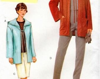 Vogue Woman Pattern 7344 - Misses/Misses Petite Hoodie Jacket, Skirt & Pants - 6-10 - UNCUT