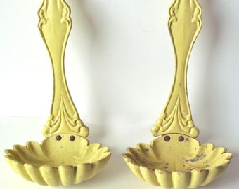 Pair of Vintage Cast Aluminum Spoons, Shabby Chic, Wall Decor, Marked EMIG 1404