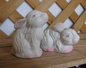 White Bunny Salt & Pepper Shakers, Easter Bunny Kitchen Gadget