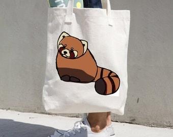 Red Panda Cotton Bag, Red Panda Tote, Cute Red Panda Tote, Red Panda Bag, Red Panda Gifts, Red Panda Accessories, Red Panda Purse, Red Panda