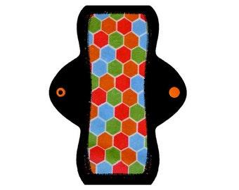 "Reusable Cloth Pad (8"" Moderate - Beehive Minky)"