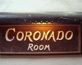 Historic Coronado Room Sign from La Fonda Santa Fe NM