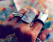 Nanu Tribal Silver Ring Unique Handmade Ring Festival Jewelry