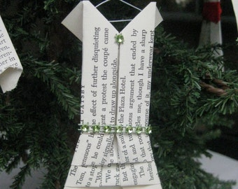 The Great Gatsby Dress Ornament, Origami