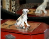"Vintage White Dog Figurine 4.5"" by 4.5""  Great Dane ?"