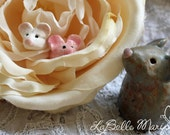 Itty Bitty Ceramic Mouse (ONE), Terrarium Critters, Tiny Clay Mouse, Handmade Ceramic Mouse, Laura Pallatin of LaBelle Mariposa