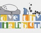 Love Thy Neighbour Totoro counted cross stitch PDF pattern