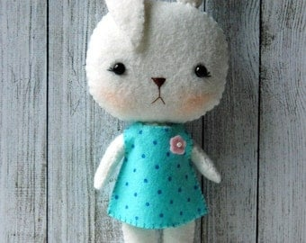 Felt Bunny Rabbit Doll - Gingermelon Design