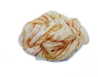 yellow silk scarf - Custard - yellow, golden yellow, warm yellow silk scarf.