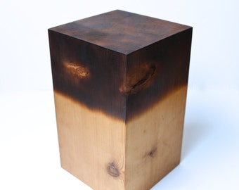 Wood Sculpture Reclaimed Wood Art Shou Sugi Ban