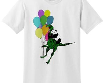 UNISEX Jurassic Panda White Balloon T-Shirt