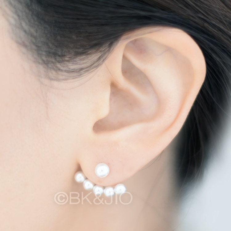 Ear Jacket Fan Earrings