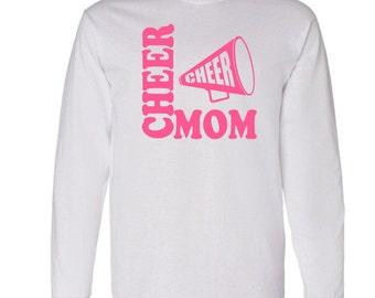 Cheer Mom Long Sleeve Shirt, Cheer Shirt, Cheerleader, Megaphone